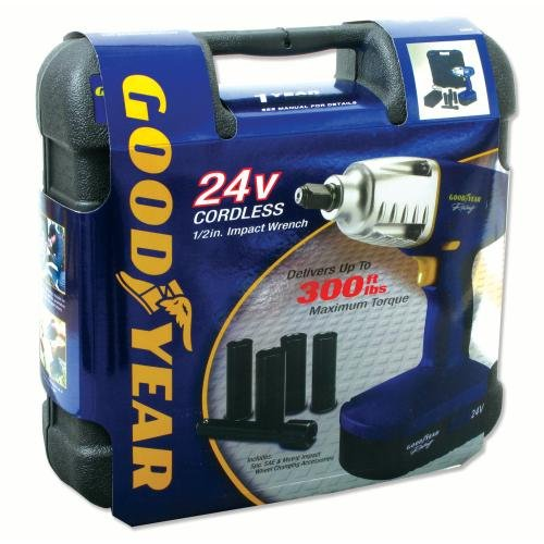 51LQB2BBo7CL Is it a 'Goodyear' for this 24V Cordless Impact Wrench? (review)