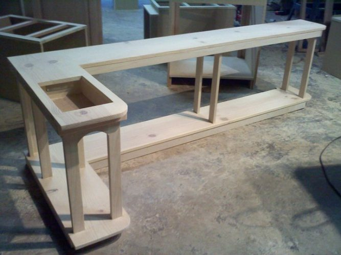 custom-corner-cabinet-table-667x500 Grab a Drill! What You Need to Build Your Own Cabinets