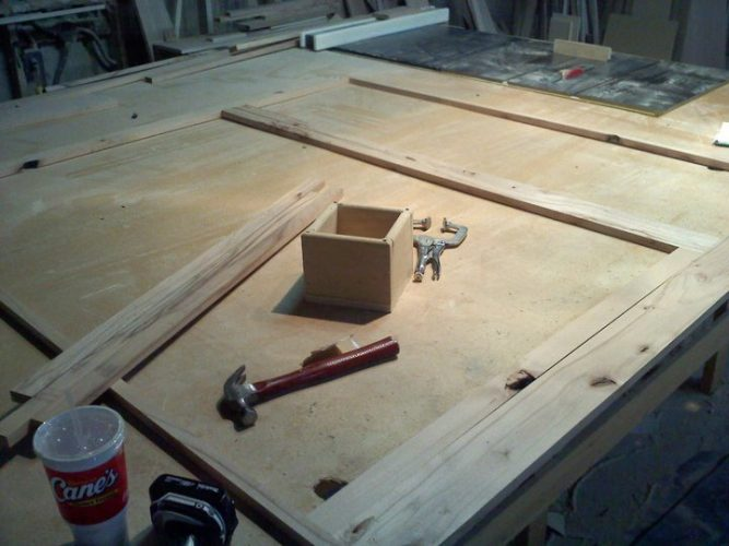 face-frame-on-table-667x500 Grab a Drill! What You Need to Build Your Own Cabinets