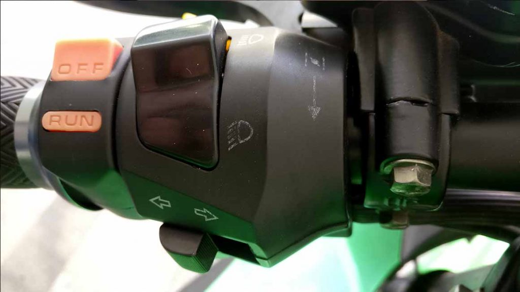 electric-motorcycle-headlight-emergency-hazard-switch-1024x576 What is an Electric Motorcycle Like? My Own Personal Experience.