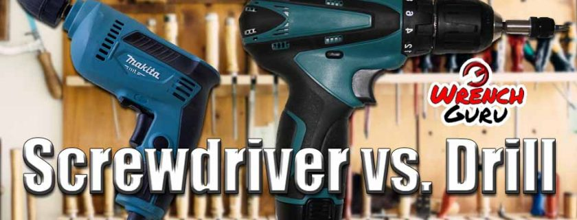 What's the Difference between a Screwdriver and a Drill?