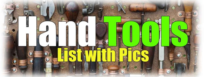 Hand Tools List with Pictures