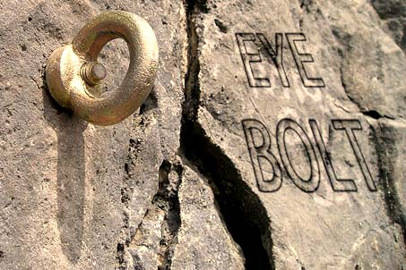 How to put an eye bolt into concrete